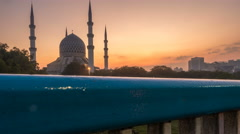 Sunrise Time Lapse at an Islamic Architecture Stock Footage