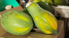 Papaya fruit in the market Stock Footage