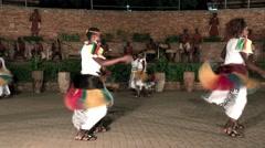 KAMPALA, UGANDA: Black African doing fast booty dance - shaking butt Stock Footage