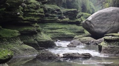Mountain River in a deep gorge Stock Footage