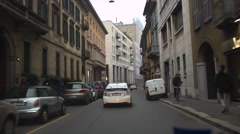 Driving car in the road of Milan. POV 4K Stock Footage