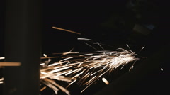 Sparks. Close up Stock Footage