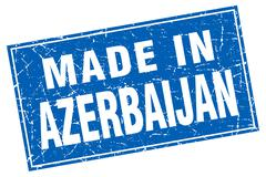 Stock Illustration of Azerbaijan blue square grunge made in stamp