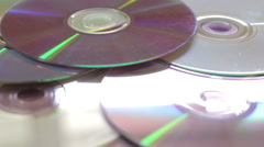 Side views of DVD media rotate Stock Footage