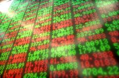 Stock Market Digital Board - stock illustration