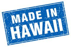 Stock Illustration of Hawaii blue square grunge made in stamp