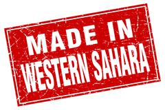 Stock Illustration of Western Sahara red square grunge made in stamp