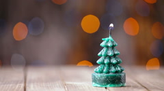 Candle light, romantic background for New Year, Christmas Stock Footage