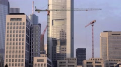 Construction boom Stock Footage