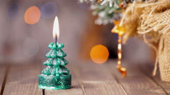 Candle light, romantic background for New Year, Christmas - stock footage