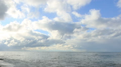 Movement of the clouds over the Black Sea. Pitsunda, Abkhazia Stock Footage
