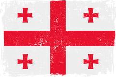 Georgia Vector Flag on White - stock illustration