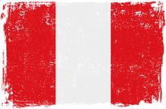 Peru Vector Flag on White - stock illustration