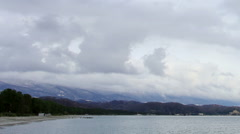 Movement of the clouds over the Black Sea. Pitsunda, Abkhazia - stock footage