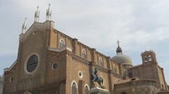 Basilica dei Santi Giovanni e Paolo in Venice Stock Footage