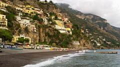 Stock Video Footage of Amalfi Coast Positano Italy 4K Stock Video Footage