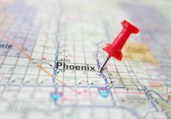 Phoenix Arizona map Stock Photos