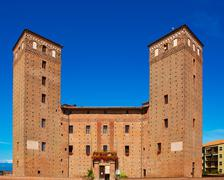 Stock Photo of Fossano medieval castle