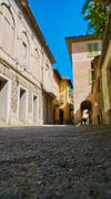 Pictorial streets of old italian villages Stock Photos