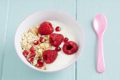 Breakfast oats - stock photo