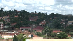 KAMPALA, UGANDA: Long shot of Kampala the capital of Uganda - African city Stock Footage