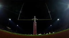 Football Stadium Goalpost Half Time Time-lapse - stock footage
