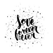 Love forever and ever - stock illustration