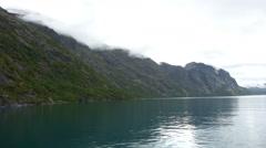 Head-on boatride on lake Gjende, Norway Stock Footage