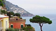 Amalfi Coast Rooftop Italy 4K Stock Video Footage Stock Footage