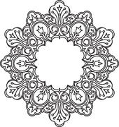 Unusual, hexagonal, lace frame, decorative element with empty place for your  Stock Illustration