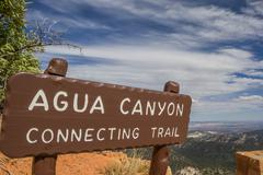 Agua Canyon sign in Bryce Canyon - stock photo