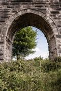The Ancient Roman Water Aqueduct Stock Photos