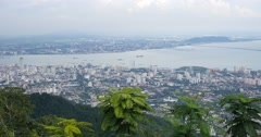 Penang hill city view scenic Malaysia Stock Footage