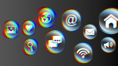 Technology and apps icons, Video Animation Stock Footage