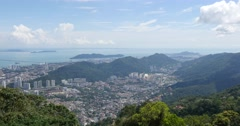 Penang hill landscape with city Malaysia Stock Footage
