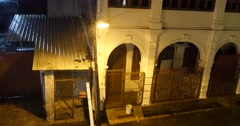 Pouring rain storm in George Town, Malaysia - stock footage