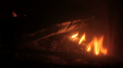 Fireplace wood stove burning Stock Footage