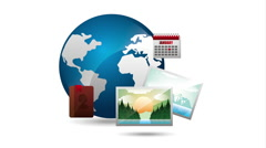 Travel concept design, video animation Stock Footage