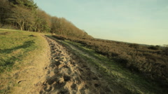 Horse track rural point of view Stock Footage