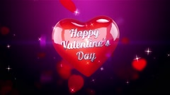 Hearts Background Animation for Valentines Day and Wedding. Stock Footage