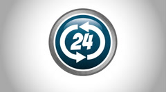 Service 24 hours design, Video Animation Stock Footage