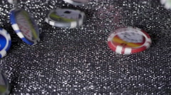 GAMBLING CHIPS IN SLOW MOTION. - stock footage