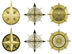 Compass roses Stock Illustration