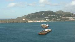 Coastline Saint Martin Caribbean Stock Footage
