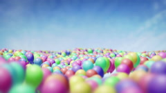 Endless carpet of balloons floating in the sky UHD 4K proresHQ Stock Footage