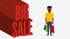 Shopping people design, Video Animation - stock footage