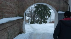 An Arch Leading to Christian Uspensky Cathedral With Its Impressive Building Stock Footage