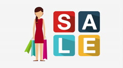 Shopping people design, Video Animation Stock Footage