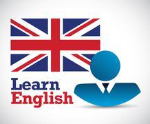 learn english business avatar - stock illustration