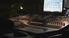 Live Audio Engineer Working Stock Footage
